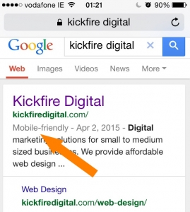 Kickfire Digital Mobile Friendly Tag